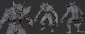 Venom Wolverine Zbrush Presentation by Goraaz