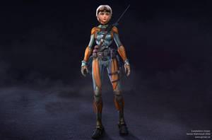 Exoskeleton sniper by Goraaz