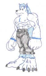 Commission: Drago Aojiro in Leomon Muscl by poseidon777
