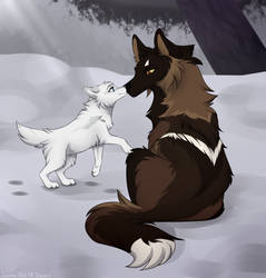 WoLF: Love You Mama by Snowy-Owl-Of-Dawn