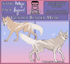 WoLF:  Gender Bender Meme | Hellija by Snowy-Owl-Of-Dawn