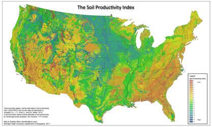 US Soil Productivity by FringerFrankie