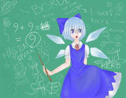 Cirno 9+9 makes 9 by Habotre