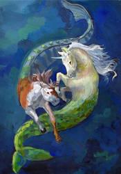 Sea horses by Templado