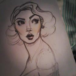Pin-up Sketch by A-Loss