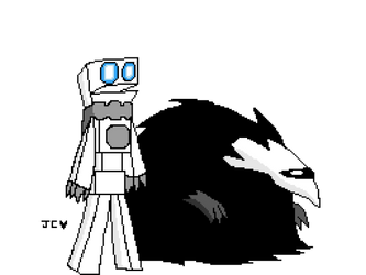 the robot and the creature by vchannel