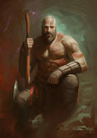Kratos God of War 4 by zack-awesome