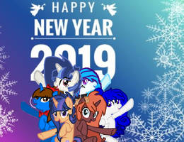 Happy new year eve everyone from: The mlp art by marbowsta