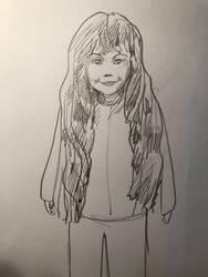 drawing of an ukrainian girl of 6 years by Laurentlux