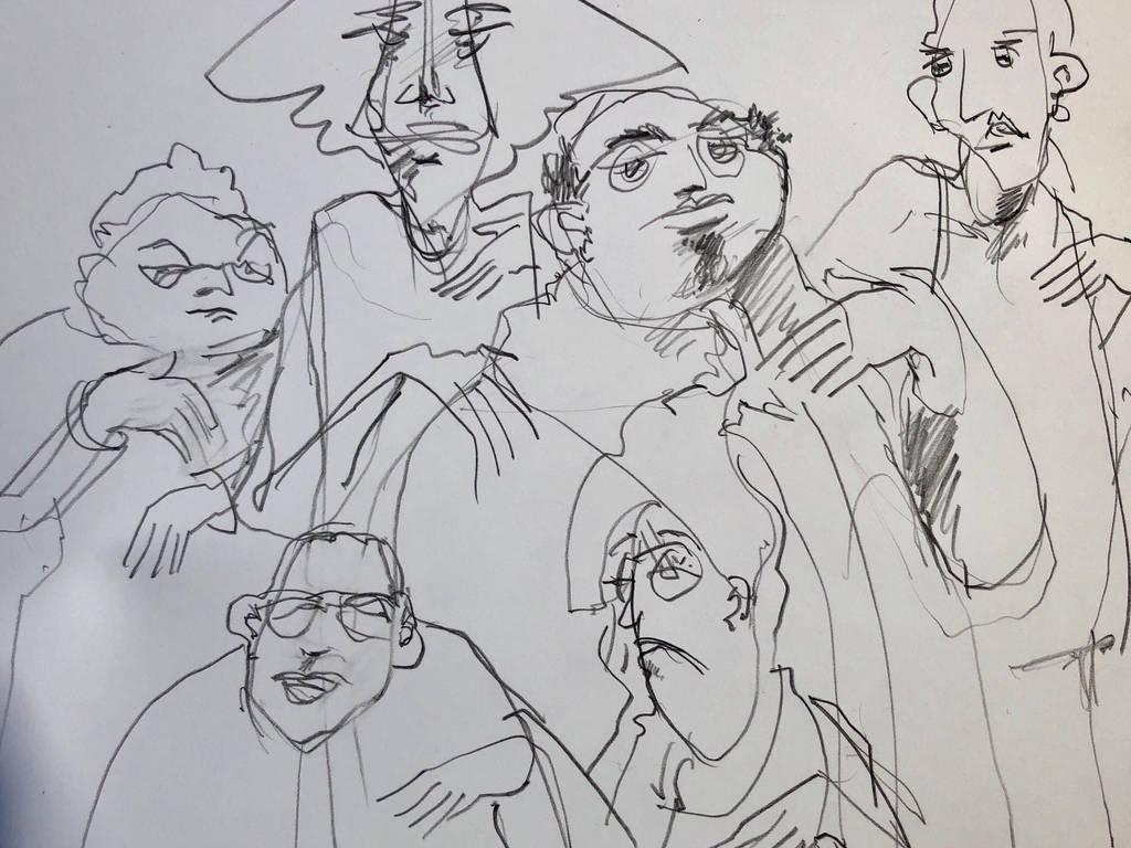 strange people quick sketch by Laurentlux