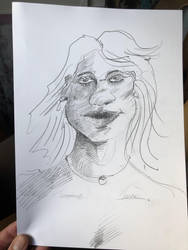 a wild sexy lady quick sketch by Laurentlux