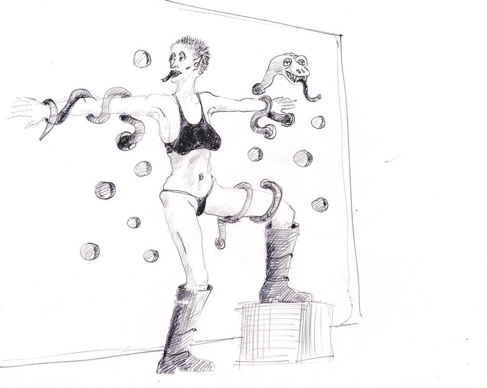 Prisoner of the snake quick sketch by Laurentlux
