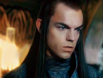Elrond - sad by mithrialxx