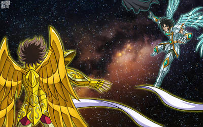 Saints Duel--Cosmos Collision by FlyingKirin