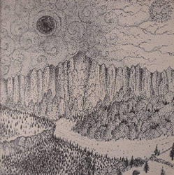 Mount Whitney (Stipling) by Nsane99