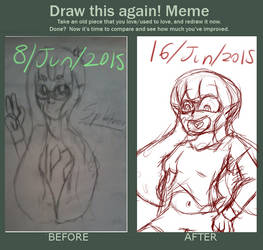 Draw this again meme by Awitm