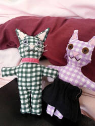 Checkered Cat Dolls by inveteratecat