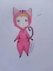 Pink cat onesie~  by inveteratecat