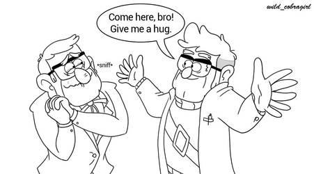 Bro hug by wild-cobragirl