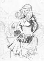 SuperGirl-Cover Sketch by mikepacker