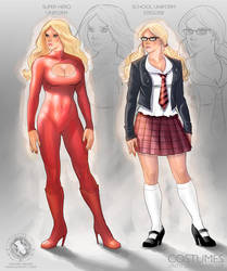 Schoolgirl Superhero by mikepacker