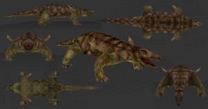 Carnivores Triassic - Desmatosuchus Mesh by Poharex