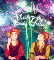 Weasley Twins - New Year by Thatu