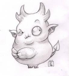 Grumpy imp by dodoalbino