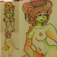 Rainbow Ladies...  by ovejis-art
