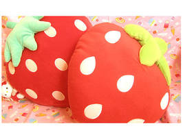 strawberry cushions cute by kawainess