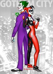 Joker and Harley - Ode 2 by artlekina