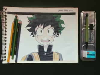 Izuku Midoriya from My Hero Academia by jormariee