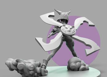 Elin Ninja Clay Final (1) by andra-arts