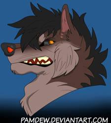 Wolf Headshot by Pamdew