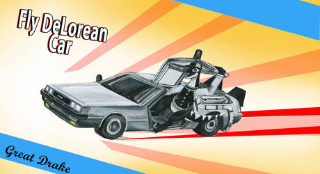 Great Drake Fly DeLorean Car by VedranR