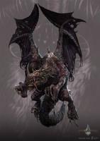 zombie dragon - gyromancer by kunkka