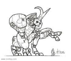 Rhino-Beetle Bot by trollboy