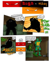 Raph vs. Mikey by Kobb