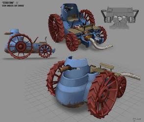 Tether Tank  aka Steam Umbilical Gun Carriage by Mad-Ram