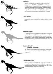 Oviraptorosaur Silhouettes by Qilong