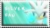 Silver Fan Stamp by Fastmon