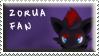 Zorua Fan Stamp by Fastmon