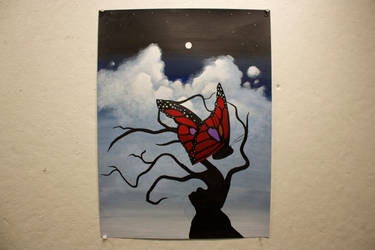 Surreal Butterfly Painting by streetbaling247