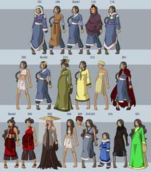 Katara's Wardrobe by DressUp-Avatar