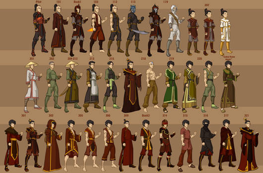 Zuko's Wardrobe by DressUp-Avatar