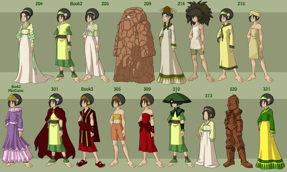 Toph's Wardrobe by DressUp-Avatar