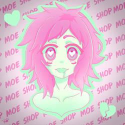 Moe Shop Love Taste Fanart by Raccoonmagic1