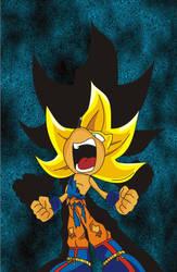 Super Saiyan Sonic by o0Vegeta0o