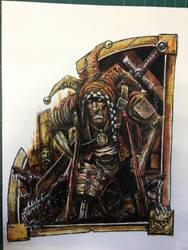 Jester Mordheim artwork, very old artwork, Games W by Wiggers123