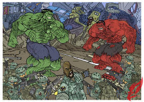 Hulk VS Hulk  Ver.01 by BongzBerry